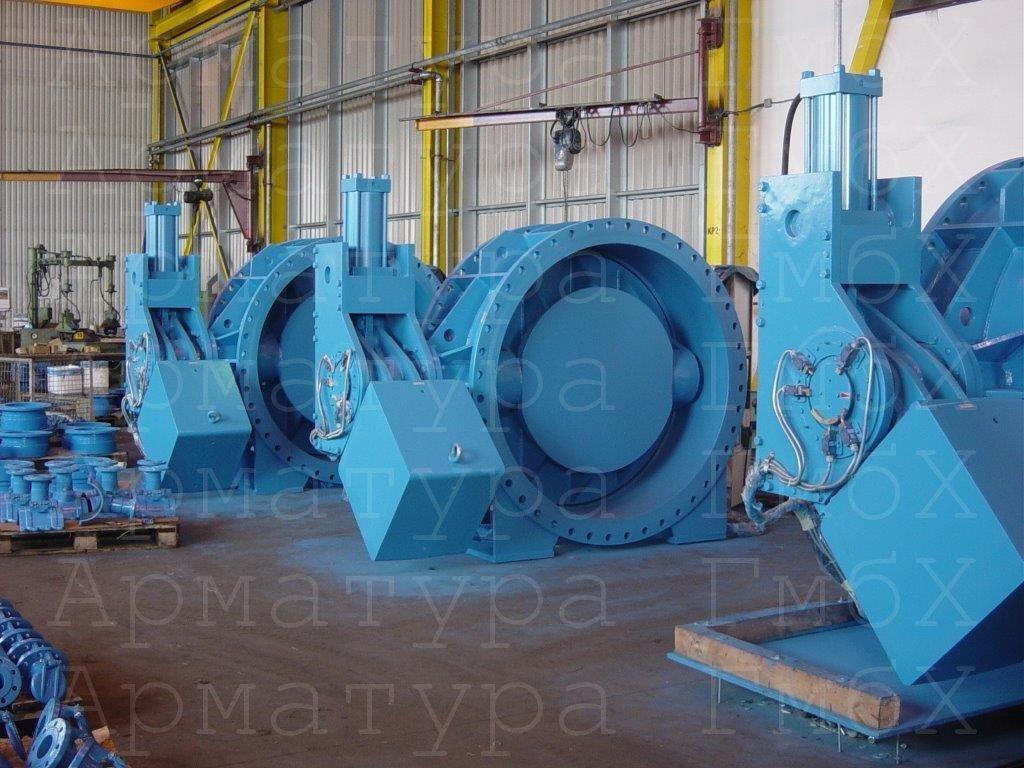 Клапаны аварийного закрытия большого диаметра произодства MIV