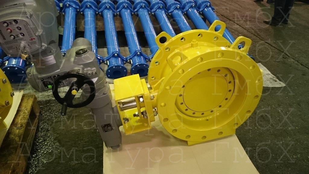 3х эксцентриковый дисковый затвор с ламинарным уплотнением для природного газа