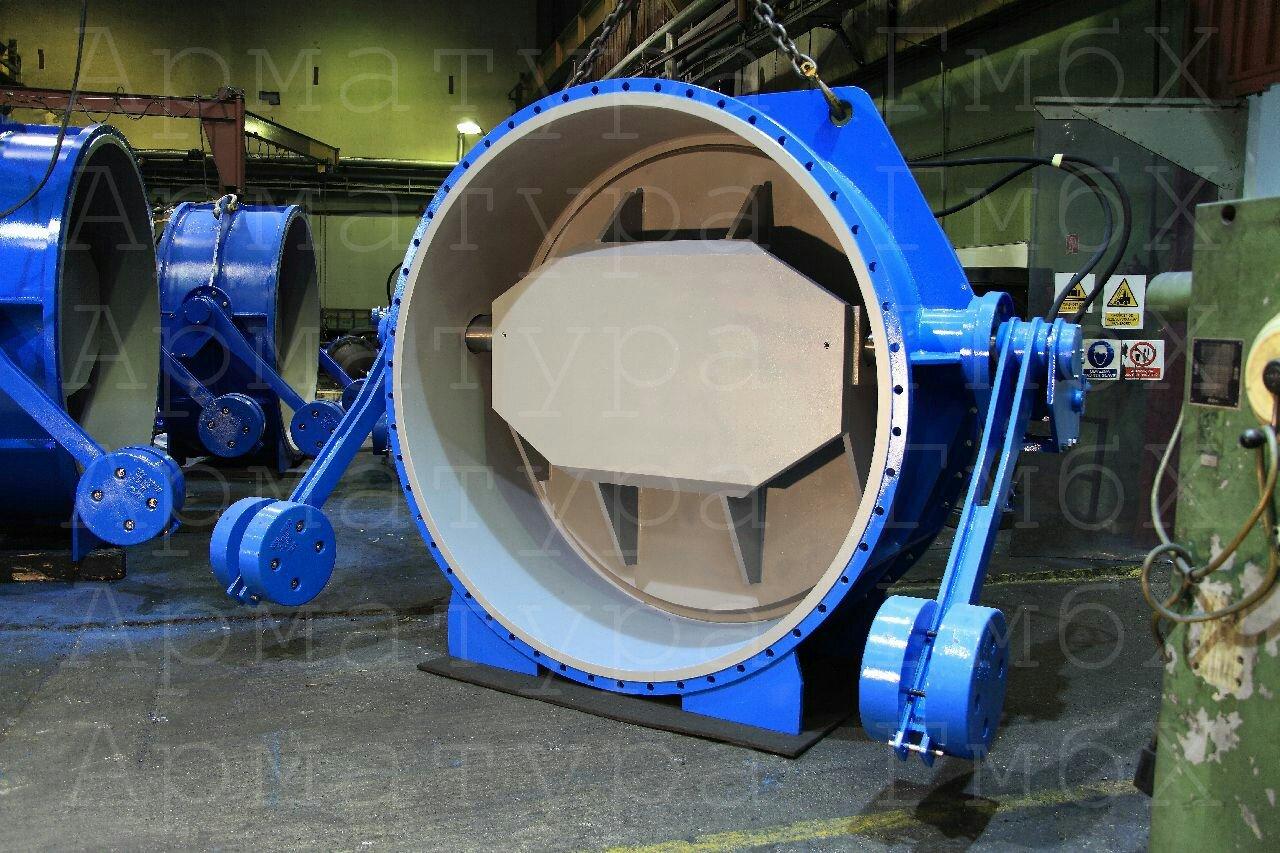 Обратные клапаны MIV V2-09 Ду2200 с демпфирующими устройствами