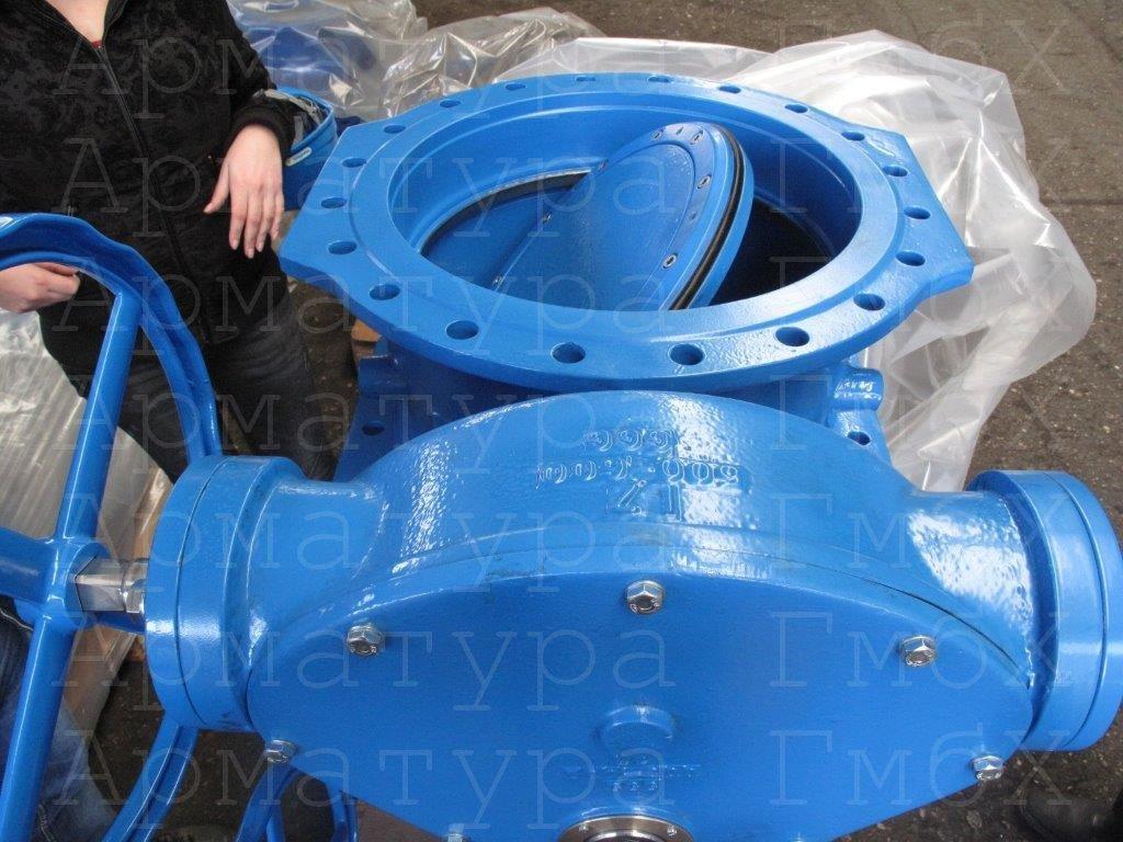 2х эксцентриковый дисковый затвор Ду600 Ру10 из ВЧШГ