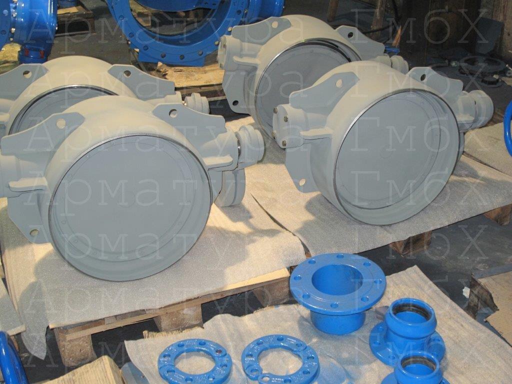 Обратный клапан типа V2-09 под приварку с рычагом и грузом для усиления закрывания