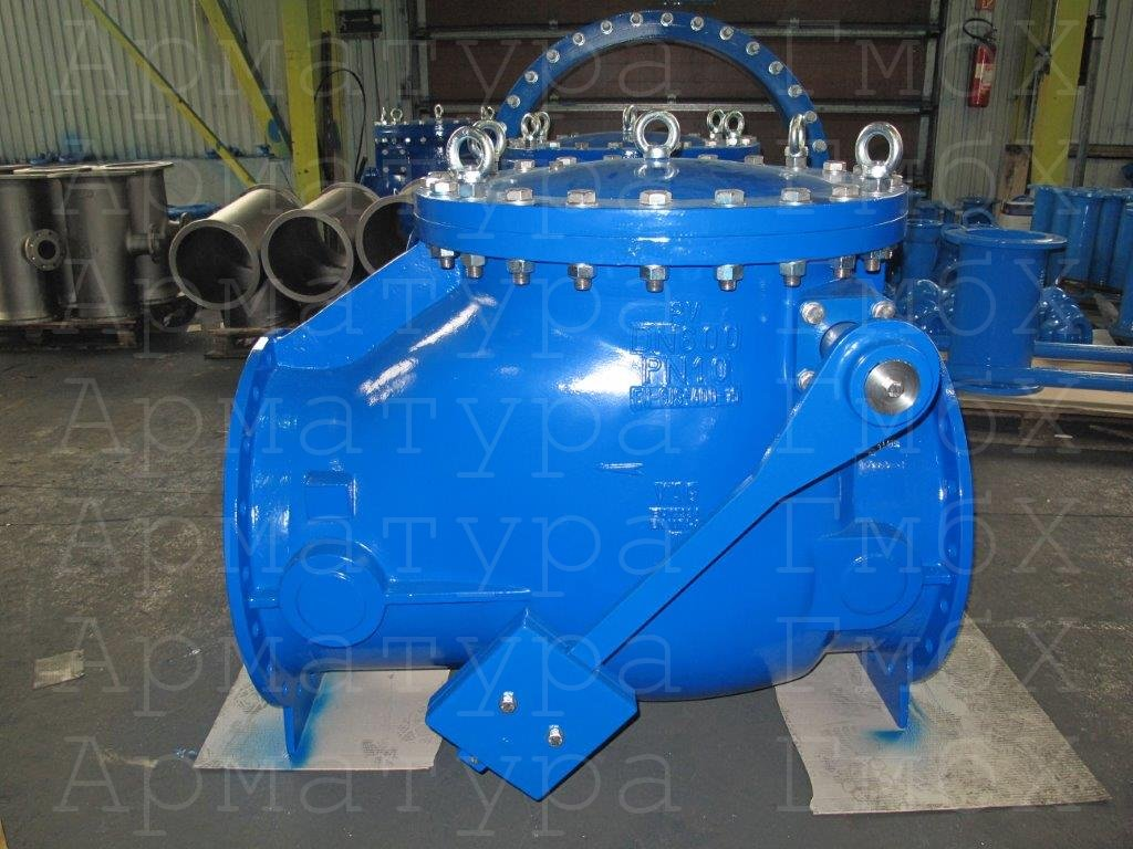 Обратный клапан типа V2-08 Ду600 Ру10, ВЧШГ