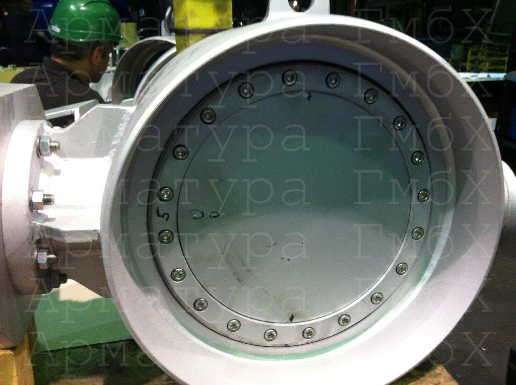 3х эксцентриковый дисковый затвор типа V3-06-3E Ду500 Ру25 под приварку
