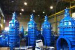 Металлоуплотненные задвижки MIV после окрашивания AKZO NOBEL RESICOAT RAL 5015